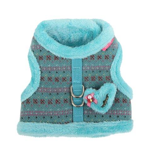 Pinkaholic New York Medium Twilight Pinka Harness, Aqua, My Pet Supplies