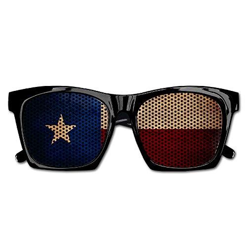 Texas Flag Party Sunglasses Mesh Lens Glasses Costume Sunglasses Eyewear For Groom Party Wedding - Glasses Nerd Wholesale