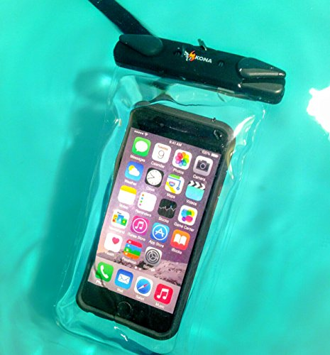 "Submariner Waterproof Phone Case ~ Heavy-Duty Universal Waterproof Cell Dry Bag Pouch For Apple iPhone 7 6 5, Samsung S7 S6 S5 Note HTC LG Sony Nokia Motorola Up To 6.3"" - Clear"