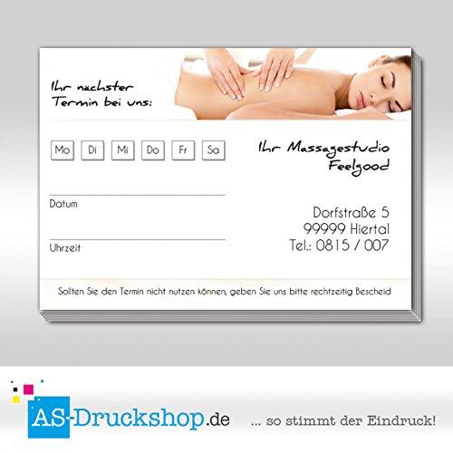Terminblock Massage - Frau     DIN A7 Querformat   50 Stück B07B31C17P Briefpapier Modisch 105015