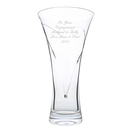 Hand Cut Diamante Heart Vase With Swarovski Elements By Cpm