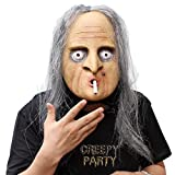 CreepyParty Deluxe Novelty Halloween Costume Latex Head Mask (witch)