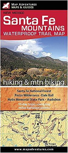 Santa Fe Mountains Trail Map (Best Hikes Near Santa Fe)