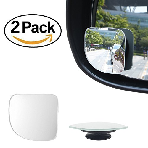 SEG Direct Pack of 2 Blind Spot Fan Shaped Mirror Universal Fit for Car Truck SUV