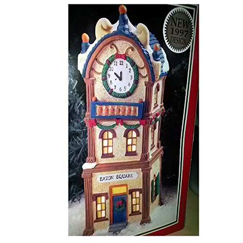 """Dickens Collectables Towne Series """"Eaton Square"""" Lighted Porcelain House (1997)"""