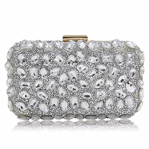 Wedding Party Gold Silver Clutches Purple Clutch Purses Party Evening Silver Bag 5qtXxncw4