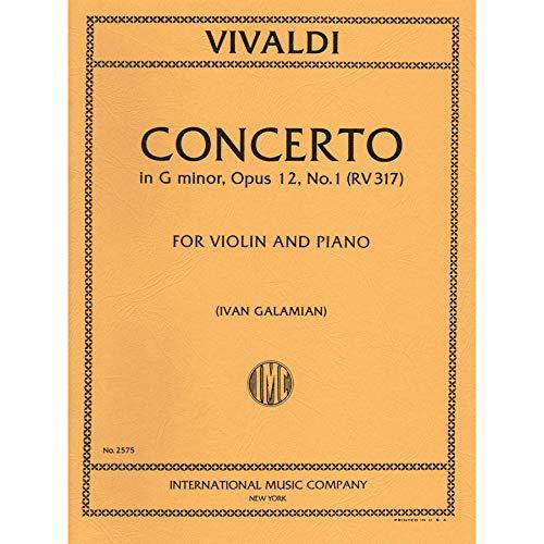 Vivaldi Antonio Concerto in g minor Op 12 No1 RV 317. For Violin and Piano. by Ivan Galamian