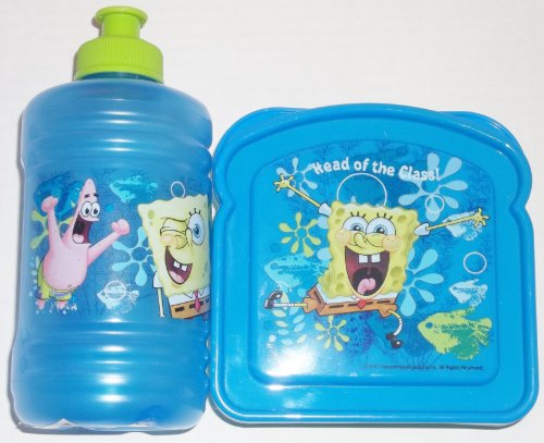 Spongebob Squarepants Sandwich Container and Water Jug Set of 2