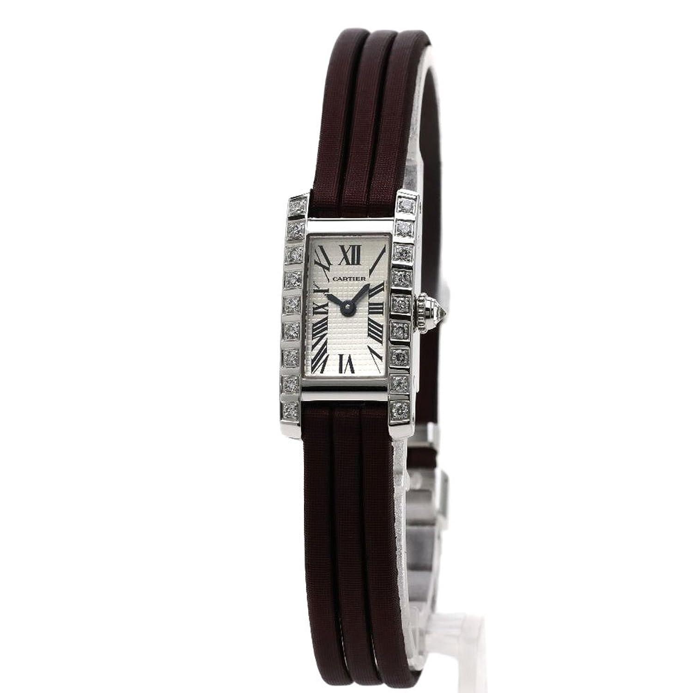 [カルティエ]タンクアロンジェ ラニエール 腕時計 K18ホワイトゴールド/トワル/ダイヤモンド レディース (中古) B07FC885FZ