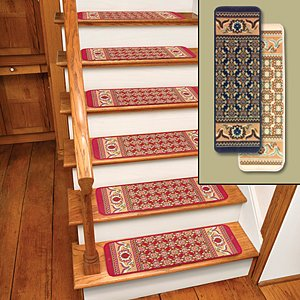 carpet stair treads. amazon.com: ivory rug carpet stair treads set of 12 cts12i: kitchen \u0026 dining d