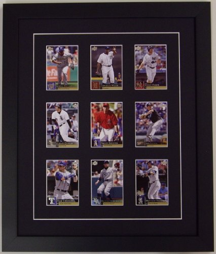 Amazon.com : Trading Card Display Frame for 9 cards : Sports Related ...