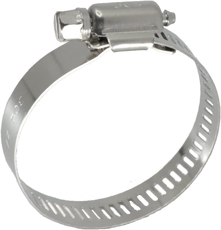 XRPAOWA Hose Clamp, 304 Stainless Steel Clamps, 10 pcs/Pack, SAE 56 Worm Gear Hose Clamps, 3-1/16-Inch-4-Inch (78-101mm) (SAE 56)