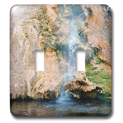 3dRose Jos Fauxtographee- Yellowstone Waterfall - A small waterfall in Yellowstone that is hot going into river - Light Switch Covers - double toggle switch (lsp_308207_2)