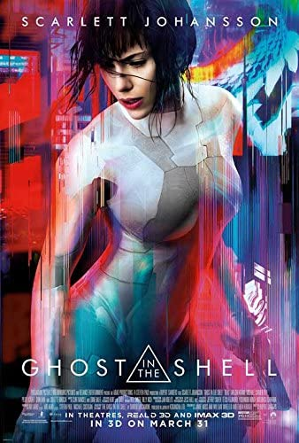 Amazon Com Ghost In The Shell Movie Poster 27 X 40 Scarlett Johansson Michael Pitt E Made In The U S A Posters Prints