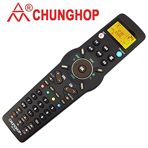 Chunghop Universal Learning Remote Control RM-991 Multifunctional Learn Devices Controller for TV/SAT / DVD/CBL / CD/VCR / Air Conditioner 6 Nets in 1