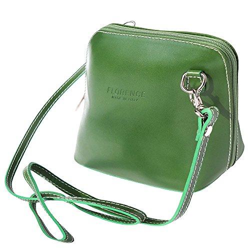 Leather bandoulière vert Florence à Market 201 Sac foncé Petit ZSnaUfnq