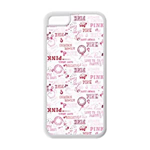 5C Phone Cases, Love Pink Hard TPU Rubber Cover Case for iPhone 5C