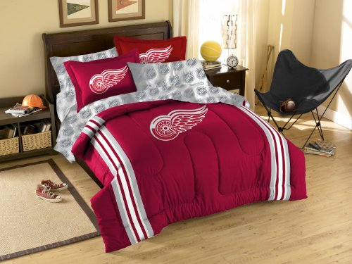 NHL Detroit Red Wings Twin/Full Size Comforter with Sham Set