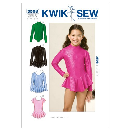 (Kwik Sew K3508 Leotards Sewing Pattern, Size 8-10-12-14)