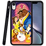 DISNEY COLLECTION Phone Case Compatible iPhone XR Case Beauty and The Beast Reinforced Drop Protection Hard PC Back Flexible TPU Bumper Protective Case for iPhone XR 6.1 Inch