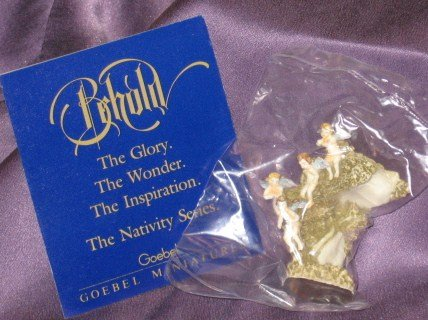 - Goebel Miniature Nativity Series Joyful Cherubs By Robert Olszewski