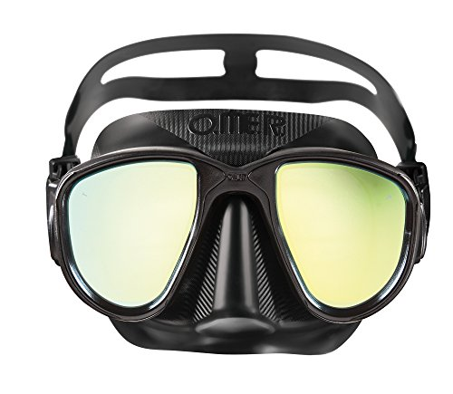 Omer Allien Mask with Mirror Lenses, Black, Universal