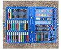 TENTEN(テンテン)おもちゃ 子供プレゼント 絵画用品 画材セット 絵の具セット グラファイトペンシル ペインティング ツールセット ペンシルホルダー ペンケース 鉛筆ホルダー 86点セット