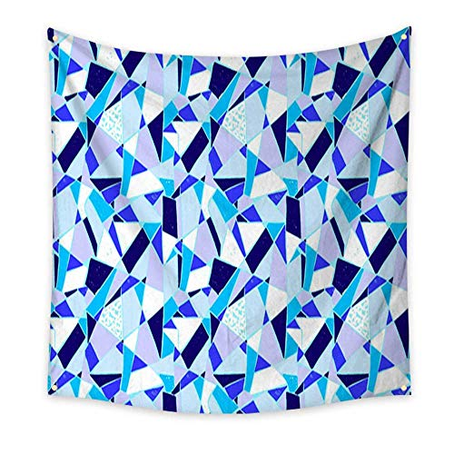 (homehot Tapestry Bedding Mosaic Pattern of Broken Tile Seamless Hand Drawn Pattern with Markers Bedroom Living Room Dorm 70W x 70L Inch)