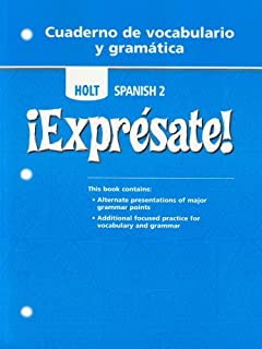 Printables Holt Spanish 2 Workbook Answer Key holt spanish 2 expresate accelerated practice cuaderno de level vocabulario y gramatica