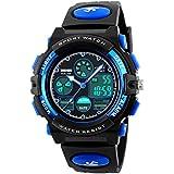 Mens Boys World Time Quartz Watch Digital Watch...