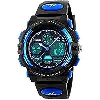 Kid's Digital Watch LED Outdoor Sports 50M Waterproof Watches Boys Girls Children's Analog Quartz Wristwatch with Alarm - Blue …