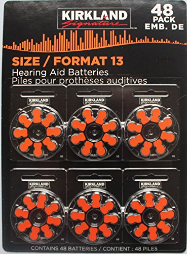 Hearing Aid Batteries 48 Pack (Size 13) by Kirkland Signature