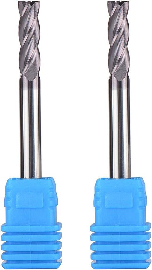 "4 Flute Solid Carbide 3//16/"" Diameter End Mill X 5//8/"" LOC X 2/"" OAL CNC Bit"