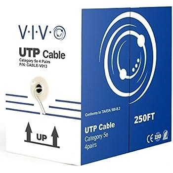 Amazon.com: New 500 ft bulk Cat5e Ethernet Cable / Wire UTP Pull Box ...