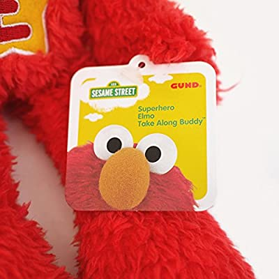 Sesame Street Sesame Street Elmo Superhero Take Along Plush: Toys & Games