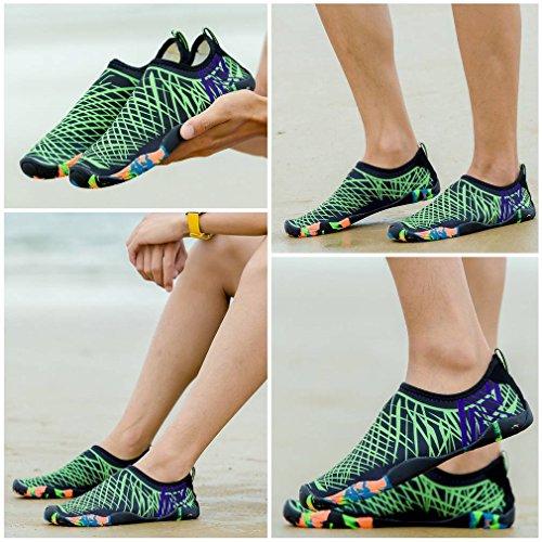 Shoes Quick Socks Green COMVIP Women Dry Summer Outdoor Beach Men Black Aqua Water qwRwxS