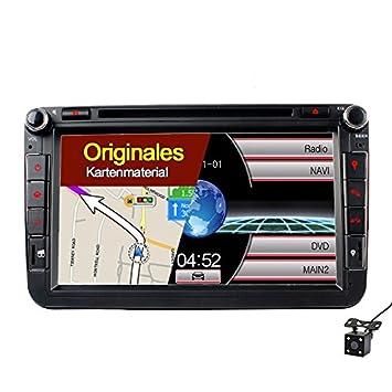 A de Sure 8 Pulgadas DVD Navegación BT GPS Radio de Coche ...