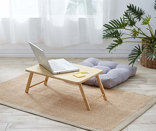 PJ Wood Foldable Laptop Desk and Bed Tray Table - Natural