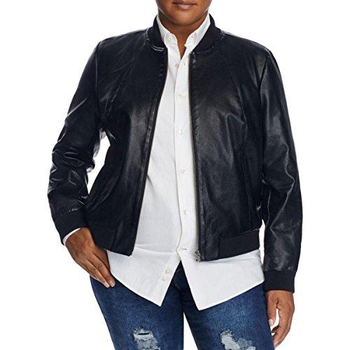 Bagatelle-Womens-Plus-Faux-Leather-Ribbed-Trim-Bomber-Jacket