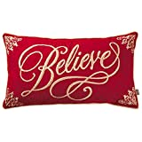 Hallmark Believe Embroidered Throw Pillow, 25x14 Pillows & Blankets -  Heritage Collection