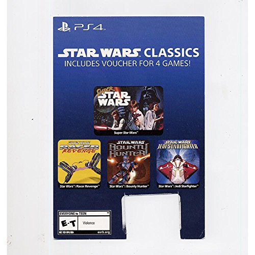 Star Wars: 4 Classic Games - PS4 Playstation 4 Download Card Voucher