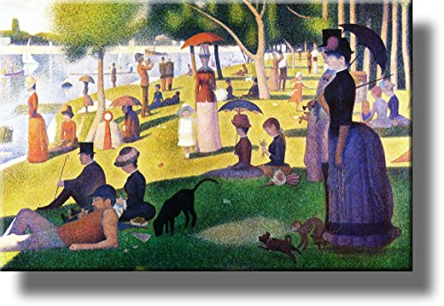 Sunday Afternoon on the Island of La Grande-Jatte by Georges Seurat Picture on Stretched Canvas, Wall Art Décor, Ready to Hang!