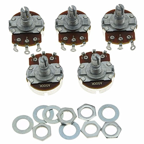 500k Audio Pot - Dopro 5pcs Audio Guitar Pots Tone 500K Electric Guitar Large Pots 24mm Base with Short Split Shaft Guitar Potentiometer A500K