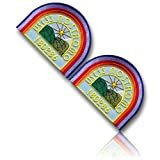 [2 Set Count] Custom and Unique (4'' Inch) Curved Half Square Shaped ''USCSS NOSTROMO 180286'' Planets & Star Crew Uniform Ripley Cosplay Costume Embroidered Sew Iron On Patch {Multicolored} {LICENSED}