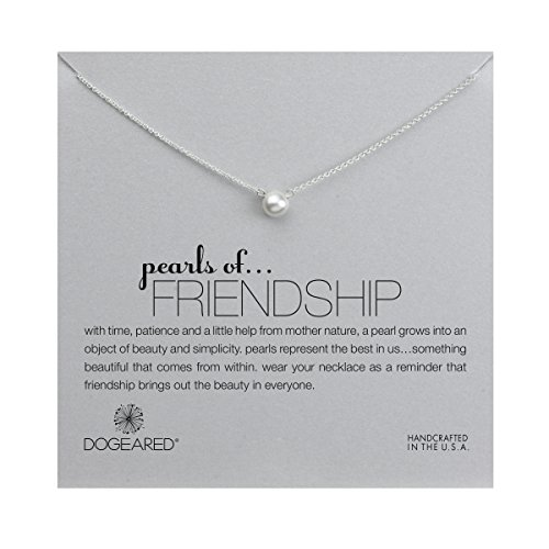 - Dogeared Freshwater Simulated Pearls of Friendship Necklace