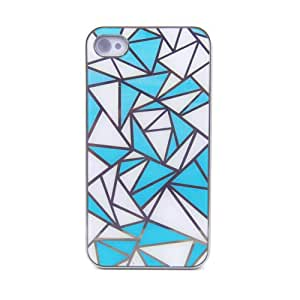 Medio - diseño, carcasa tspro, Marco, carcasa, funda de plástico para Apple iPhone 4 y 4S, case, carcasa rígida, diseño, diseño, color azul claro/blanco, azul claro/blanco