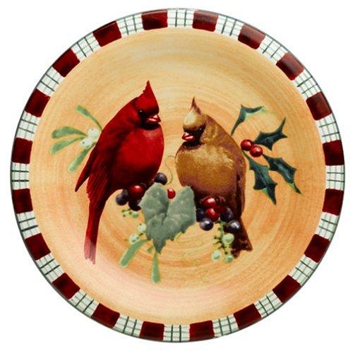 Lenox Winter Greetings Everyday Stoneware Cardinal Salad Plate - Lenox Crystal Plates
