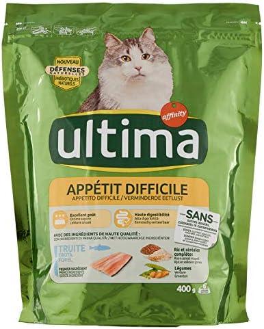 Ultima Appétit Difíficile para Gato 400 g – Pack de 8: Amazon.es ...