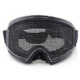 WOSPORT air gun hunting goggle metal mesh goggles (black)