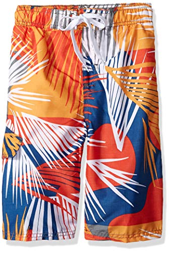 Kanu Surf Little Boys' Impact Quick Dry Beach Swim Trunk, Tahiti Denim/Orange, Large (7) ()